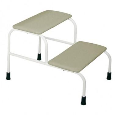 Подставка для ног двухступенчатая ДЗМО для гинекологического кресла КГ-6, КГ-6-1, КГ-6-2, КГ-6-3