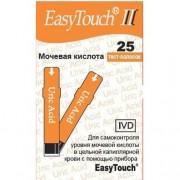 Тест-полоски Easy Touch мочевая кислота №25
