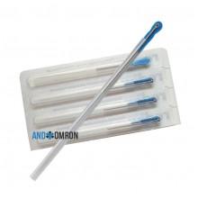Акупунктурные посеребренные стерильные иглы 0,2х15 мм с направителем 100 игл в упаковке