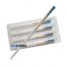 Акупунктурные позолоченные стерильные иглы 0,2х15 мм с направителем 100 игл в упаковке