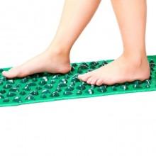 Коврик массажный с цветными камнями Ommassage Green Mat 173х35 см