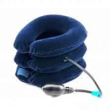 Воротник для шеи лечебный надувной велюровый с магнитом (№6)