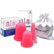 Банки вакуумные силиконовые Matwave 4 штуки для массажа лица и тела